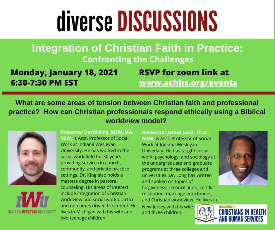 Integration of Christian Faith in Practice: Confronting the Challenges