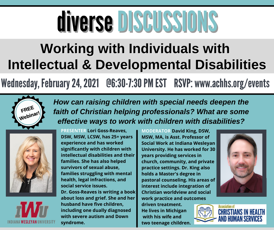 Working with Individuals with Intellectual & Developmental Disabilities