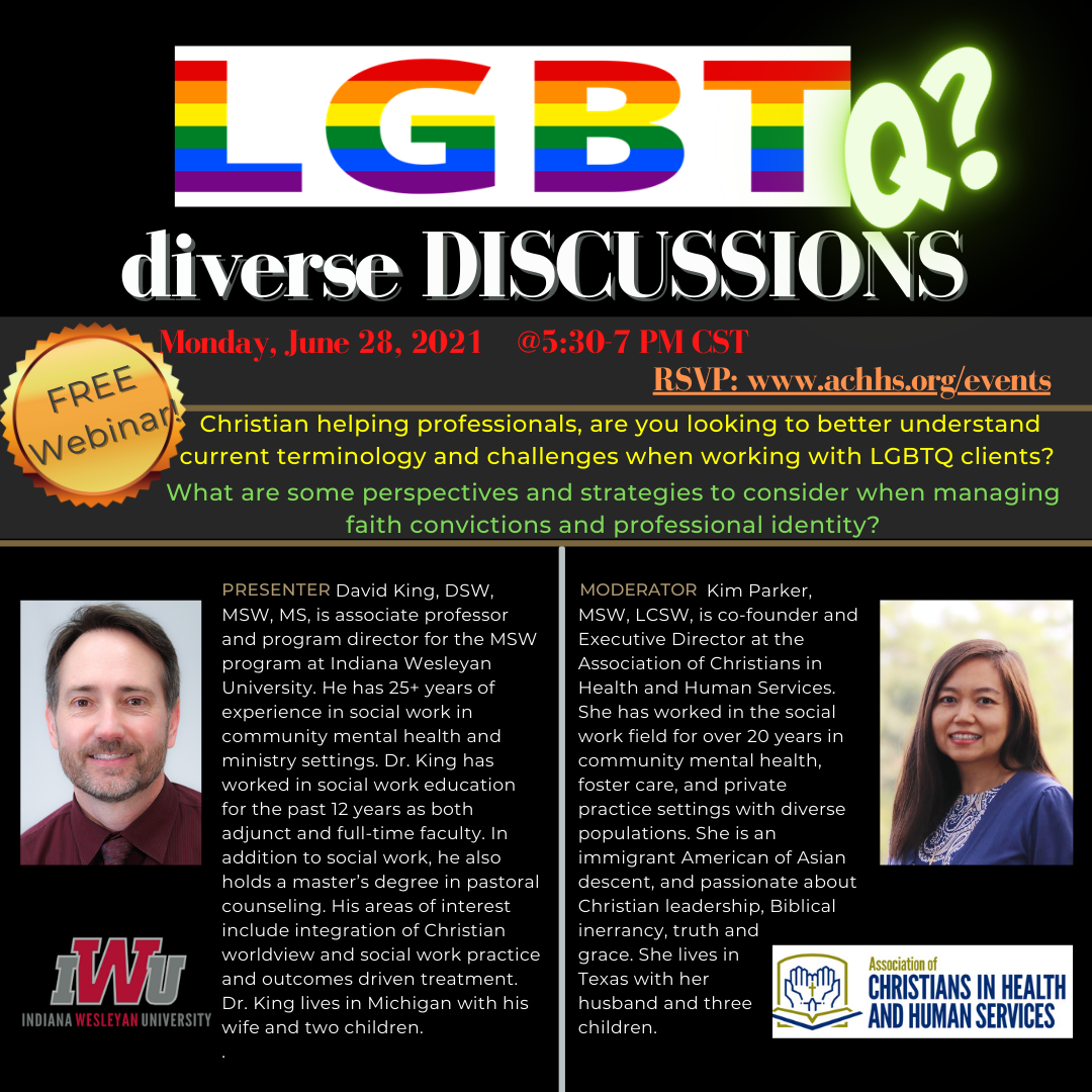 LGBTQ? Sexuality Issues in Human Services: Christian Perspectives & Strategies