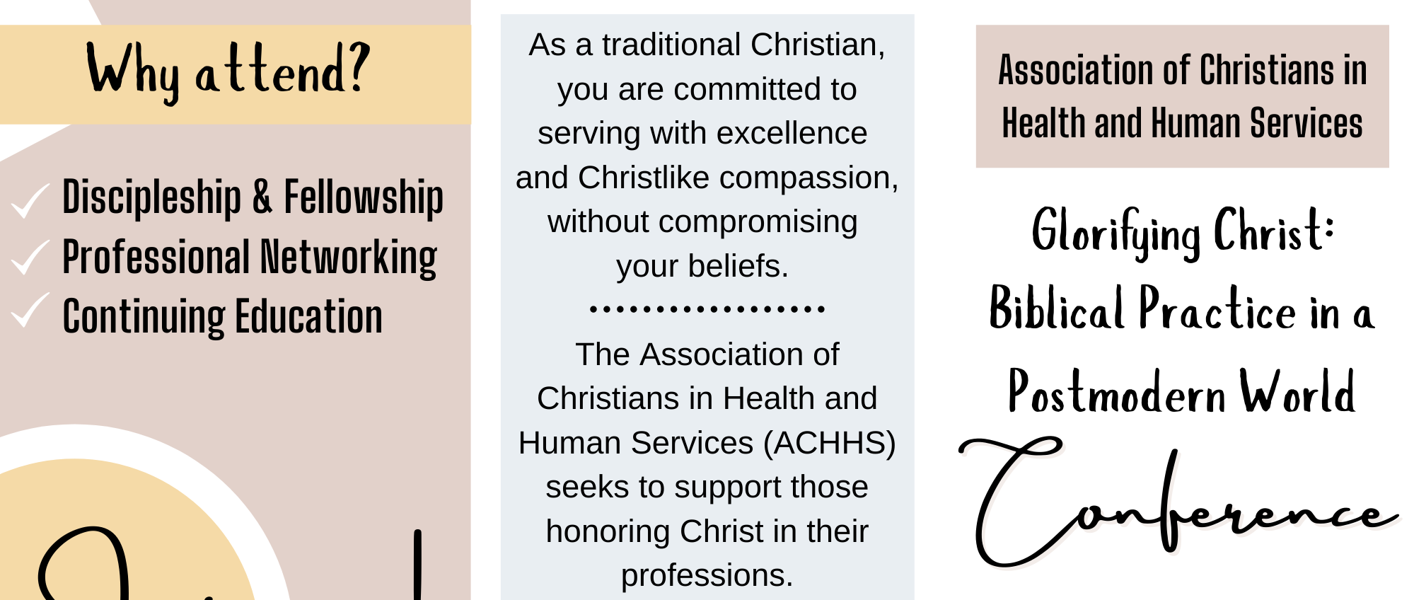 ACHHS Convention Workshops Available